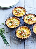 Spring leek and smoked salmon mini quiches