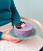Blackberry angel cake