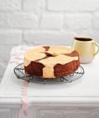 Vanilla-chocolate chiffon cake