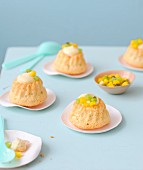 Mini exotic fruit chiffon cakes
