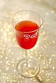 Hibiscus juice cocktail