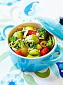 Winter vegetable mini casserole