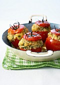 Tomatoes stuffed with bulghour and cheese