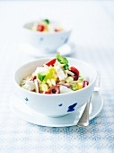 Riso, feta and Greek-style spring vegetable salad