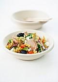 Niçoise-style pasta salad