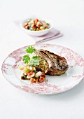 Grilled lamb chops, quinoa and autumn fresh fruit tartare