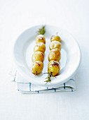 Potato rosemary brochettes
