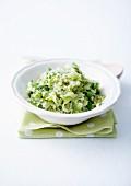 Zucchini tartare with herbs