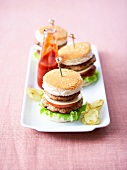 Mini veal burger appetizers