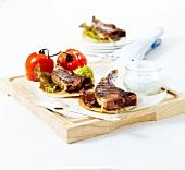 Lamb chop mini pittas