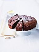 Bitter chocolate cake