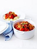 Chicken and three tomato casserole