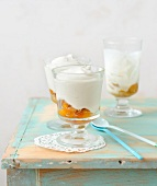 Yoghurt smoothie with stewed mirabelle plums