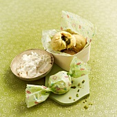 Lebanese orange blossom and pistachio cookies