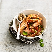 Malian-style shrimp salad