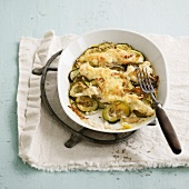 Browned zucchini gratin