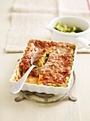 Broccoli and blue cheese lasagnes