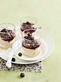 Semolina with stewed blueberry Verrines