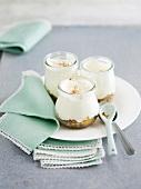 Pineapple-coconut gourmand yoghurts