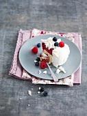 Portion of summer fruit Vacherin
