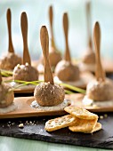 Tuc crackers and chive cake pops