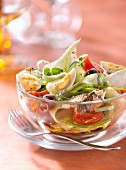 Salade niçoise with cider vinaigar