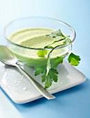 Creamy parsley soup