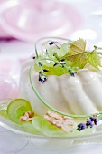 Semifreddo with white grapes