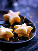 Clementine jam frosted Christmas star cookies
