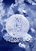 Christmas glass ball decoration