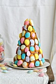 Madeleines and acidulated capsule candy wedding cake