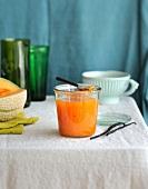 Vanilla-flavored melon jam