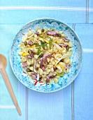 Conchiglie, squid and caper salad