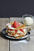 Grapefruit and whipped cream crispy mille-feuille