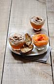 Chestnut-pumpkin purees