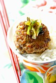 Pork and water chestnut meatball