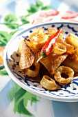 Sauteed daikon and calamaries