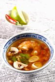 Shrimp and citronella soup