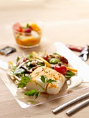 Cod with paprika, Asian-style vegetable wok