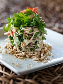Crab, cilantro and peanut Thai salad