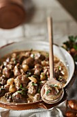 Normandy-style veal kidneys