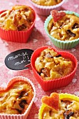 Apple and Coeur de Neufchatel cheese muffins