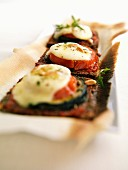 Pizza-style toasted open sandwiches
