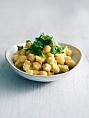 Chickpea and cilantro salad