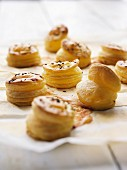Cheese and cumin flaky pastry bites