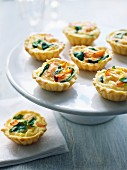Salmon-spinach mini quiches