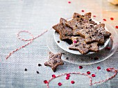 Spicy shortbread stars