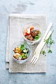 Cumin meatballs, stew left-over meatballs