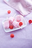 Cannelés-style strawberry Tagada candy ice cream pops