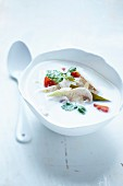 Coconut milk and citronella fish chowder